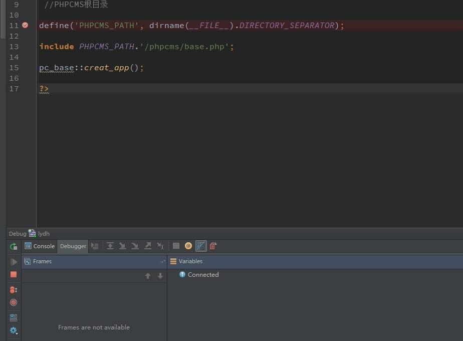 PHPStorm+XAMPP开启xdebug后调试无反应